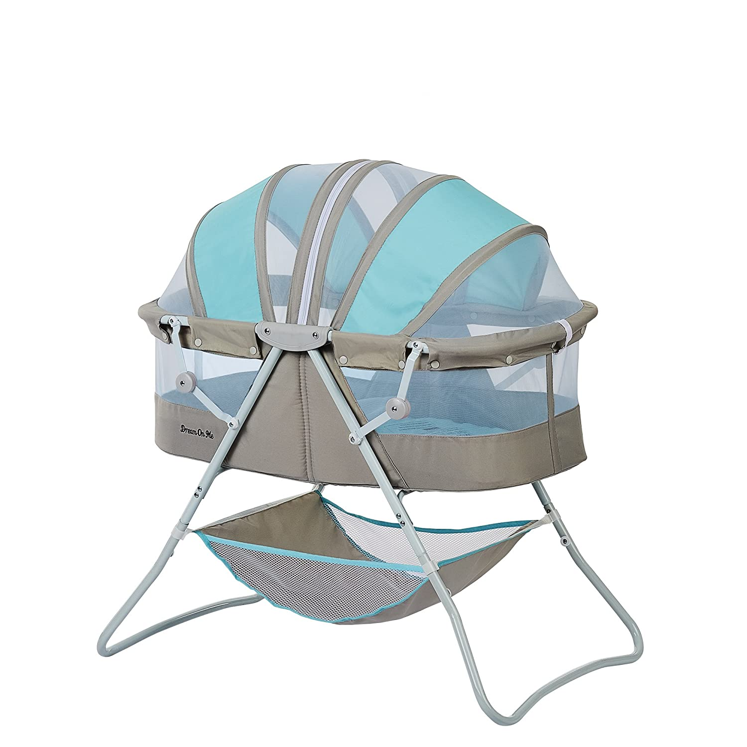 Dream On Me Karley Bassinet, Blue/Grey 441-BG