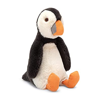 Jellycat Bashful Puffin Penguin Stuffed Animal, Medium 12 inches: Toys & Games