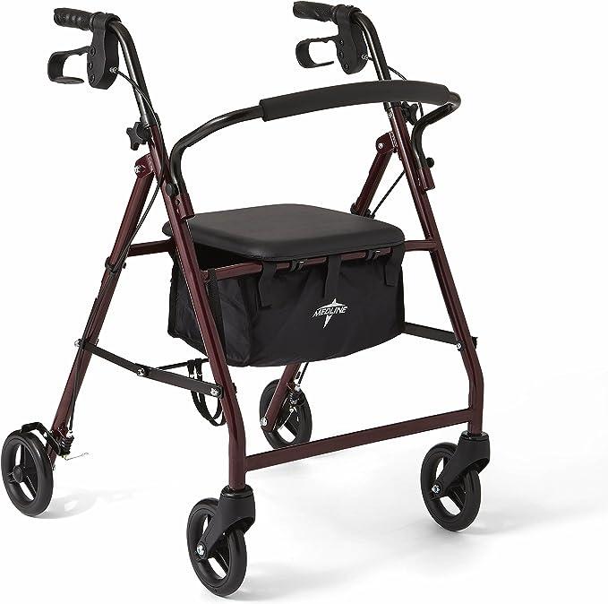 Amazon.com: Caminador estándar plegable marca Medline ...