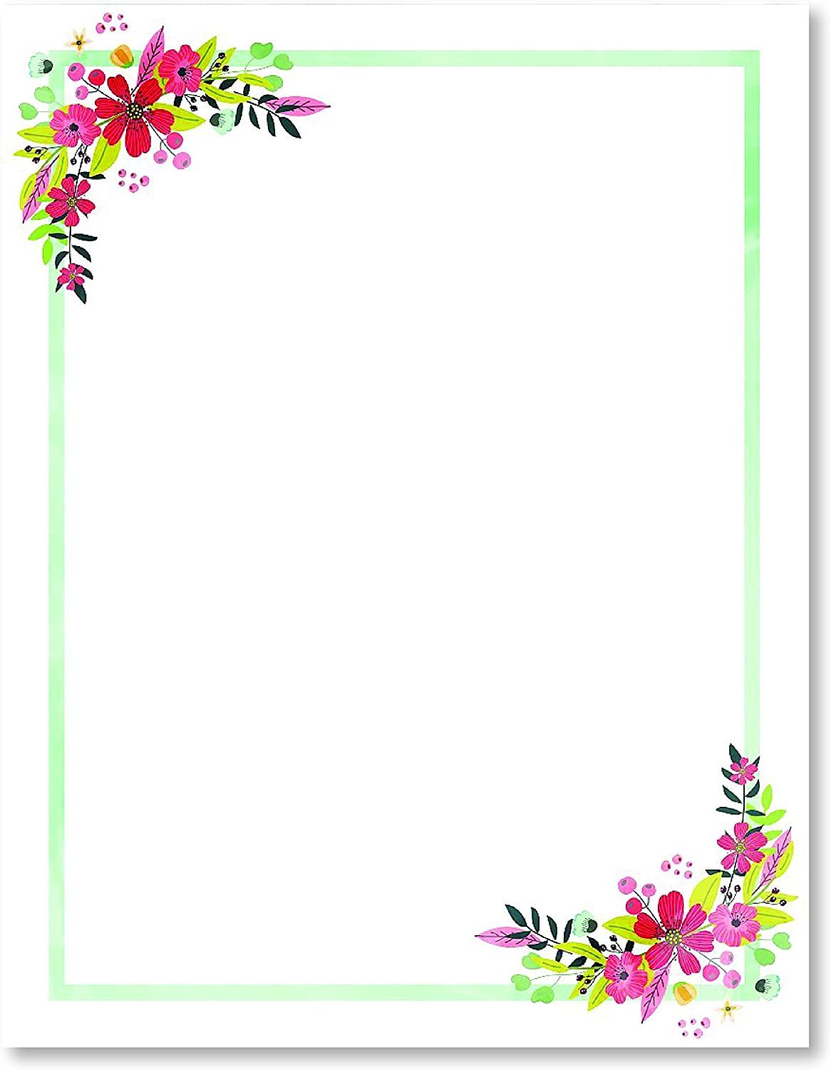 Stationery Paper Birthday Perfect for Notes Engagement Party Wedding Letter Writing and Invitations for Bridal Shower Red Hibiscus 100 Set of Floral DIY Invitation Kit VIP and All Occasions