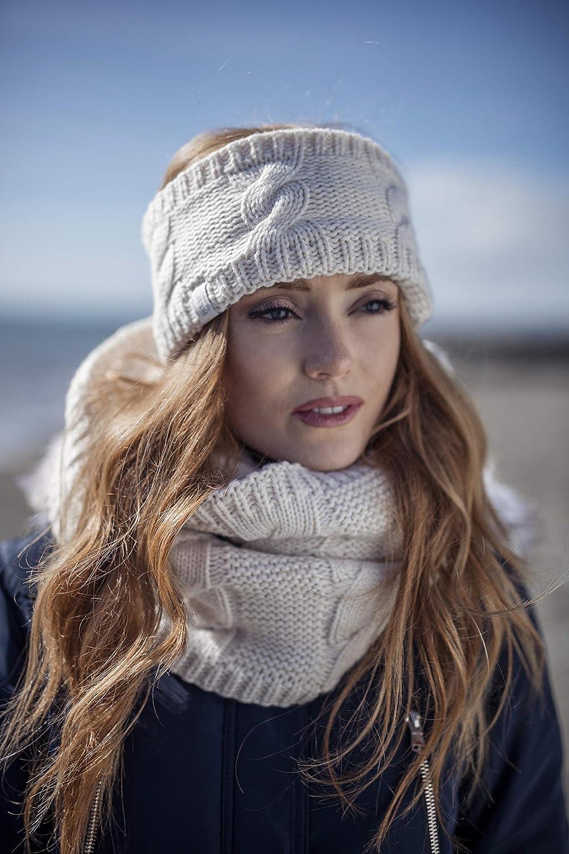 Damen outdoor gestrickt strick thermo winter stirnband mit innen fleece HEAT HOLDERS