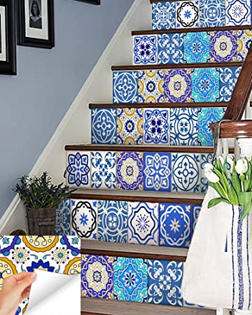 Backsplash Tile Stickers 24 PC Set Authentic Traditional Talavera Tiles  Stickersl Bathroom U0026 Kitchen Tile Decals
