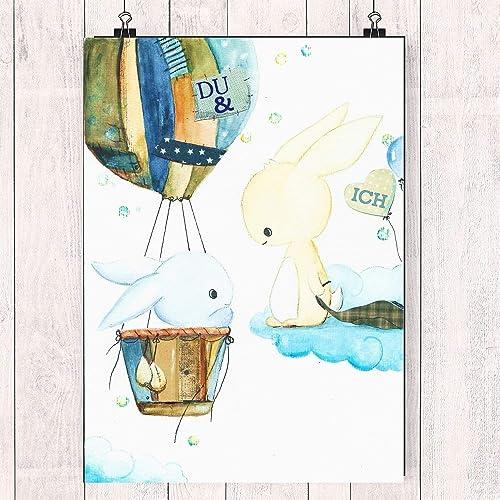 Tiny Tamidu Ich Postkarte Hasen Im Heissluftballon