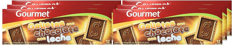 Gourmet - Galletas con chocolate con leche - - 150 g - , Pack de 6: Amazon.es: Alimentación y bebidas
