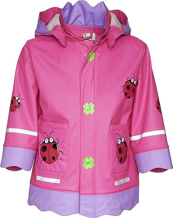 und Elefant-Motiv und Muster Playshoes Kinder Regenjacke mit abnehmbarer Kapuze mit Maus niedlicher Regen-Mantel f/ür M/ädchen