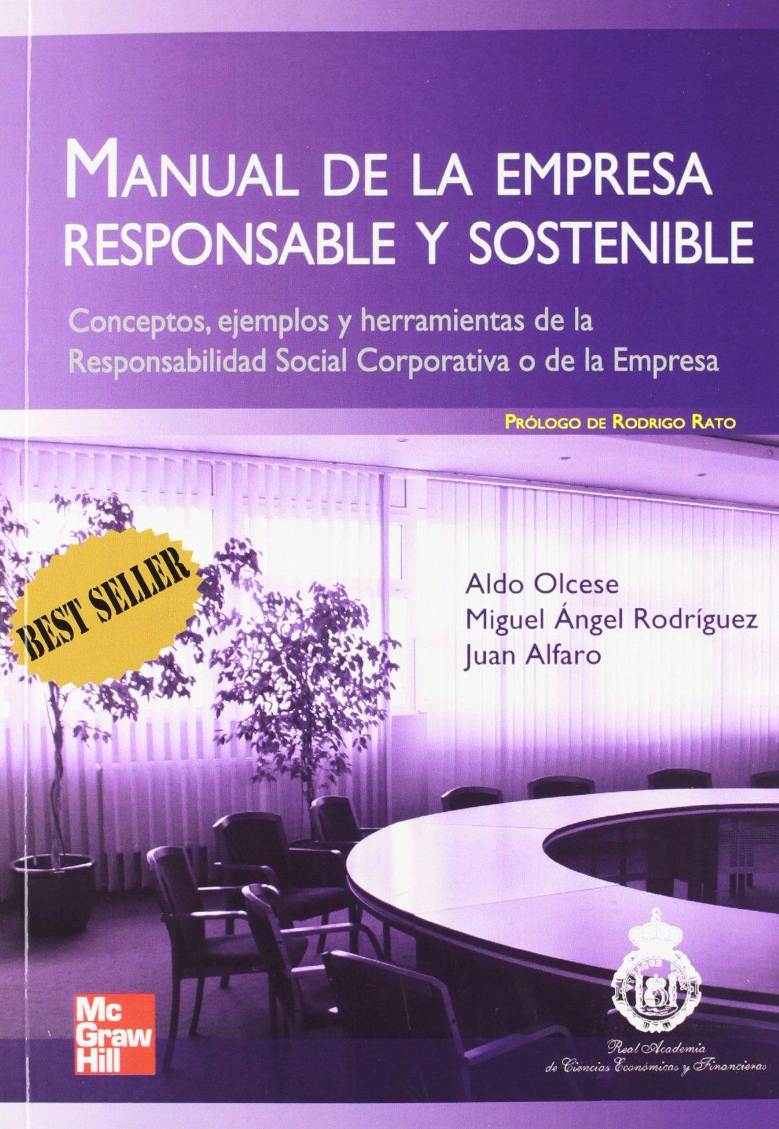 MANUAL DE LA EMPRESA RESPONSABLE Y SOSTENIBLE. CONCEPTOS Y HERRAMIENTAS DE LA RESPONSABILIDAD SOCIAL CORPORATIVA O DE LA EMPRESA: Amazon.es: ALDO;RO OLCESE: ...