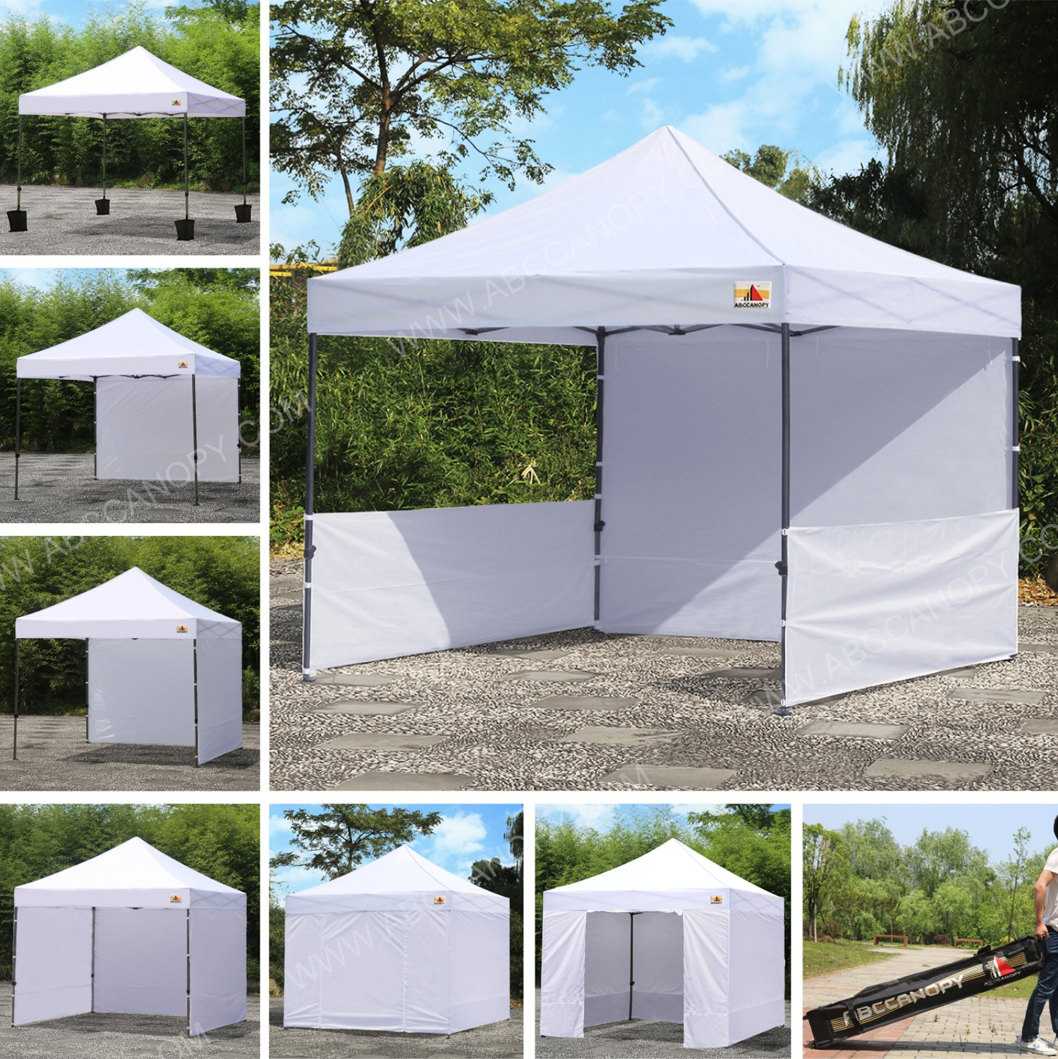 ABCCANOPY 10 x10 Pop Up Canopy Commercial Event Canopy Market Stall Canopy Booth Outdoor Trade Show Booth With Wheeled Carry Bags by abccanopy (Image #1)