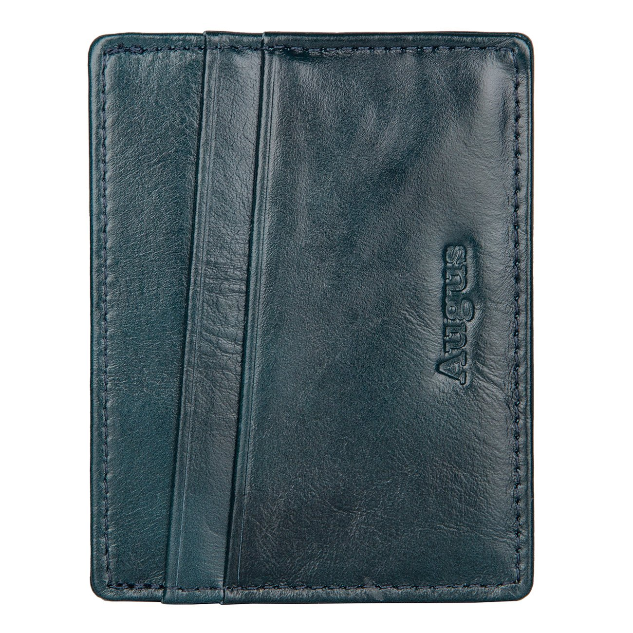 Augus leather Card Holder Front Pocket Wallet with RFID Blocking 3-R-8101A-1