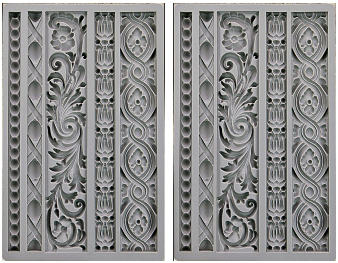 2-PACK - Prima Marketing 655350815325 Iod Vintage Art Decor Moulds- Moulding 1 Iod Vintage Art Decor Moulds - Moulding 1 Prima Marketing Inc