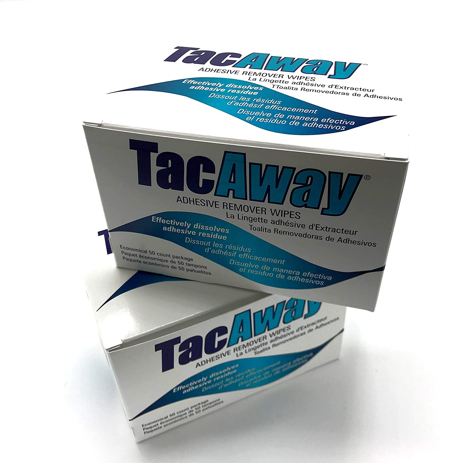 Skin-Tac-H Adhesive TacAway Remover Wipes, 50 count