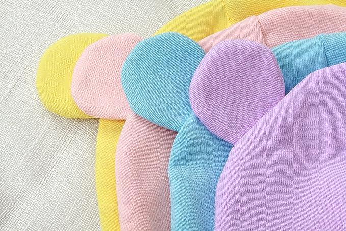 Amazon.com: GZMM Baby Newborn Beanie Hats Soft Cotton 2 ...