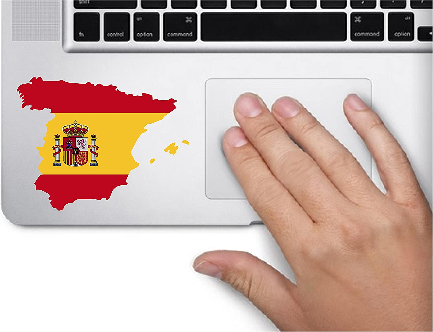Map with Flag Inside Spain 3x3.5 inches Sticker Decal die Cut Vinyl - Made and Shipped in USA