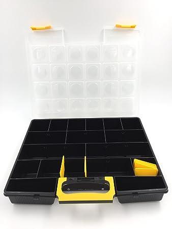 Gran caja de almacenaje para tornillos/ferretería/organizador de tornillos y clavos – 31 cm x 37 cm – Calidad Pro – Fabricado en Italia: Amazon.es: Bricolaje y herramientas