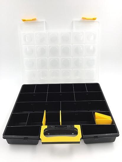 Gran caja de almacenaje para tornillos/ferretería/organizador de tornillos y clavos