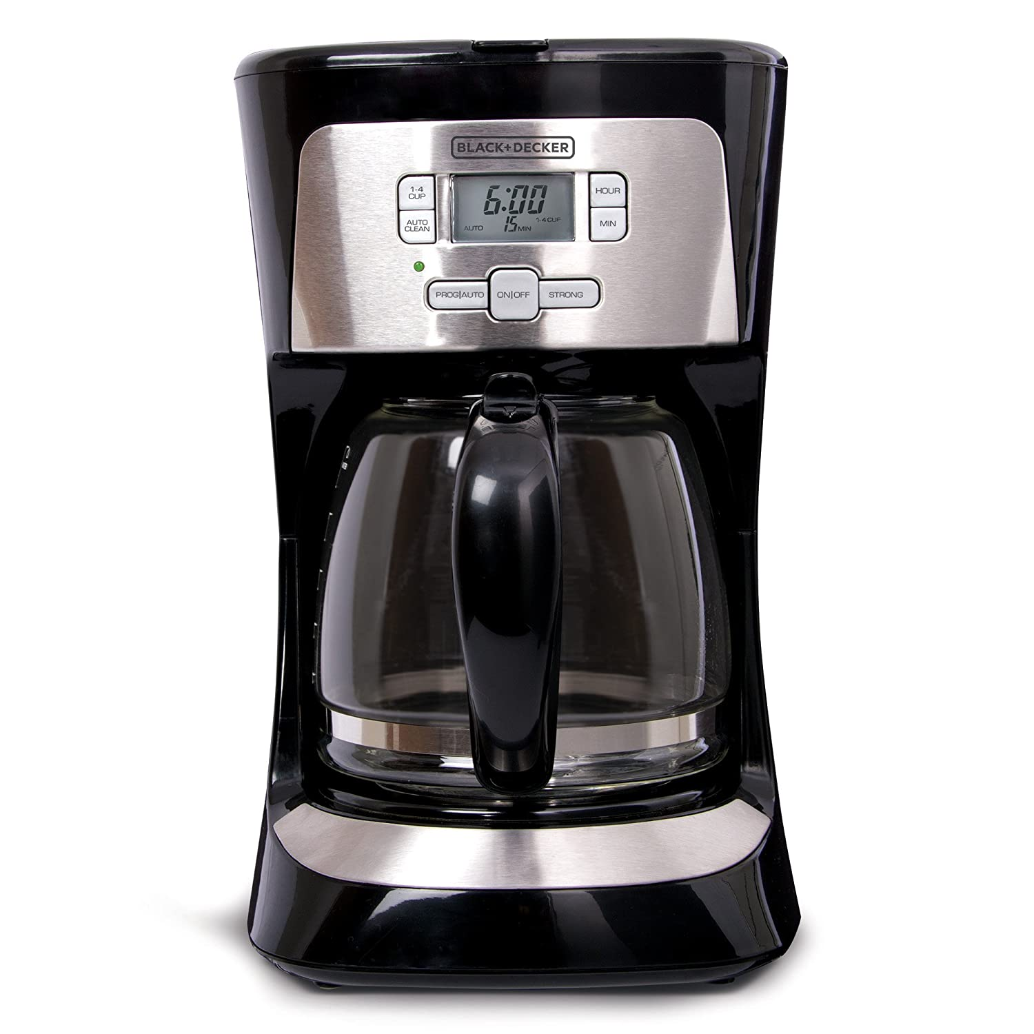 BLACK+DECKER 12-Cup Programmable Coffee Maker, Black