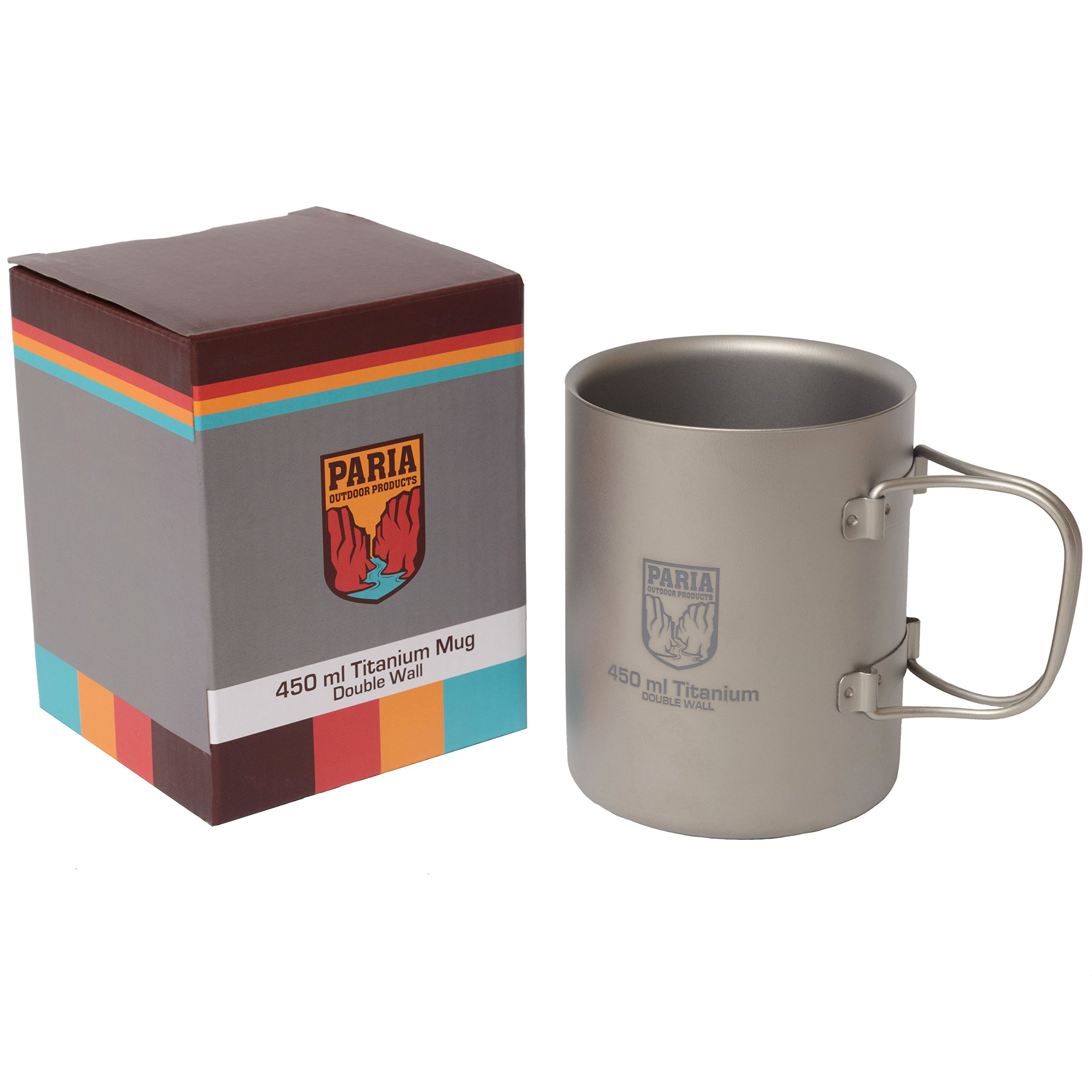 Titanium 450 ml Insulated Double Wall Mug - Ultralight, Compact and Extremely Durable - Perfect for Backpacking and Camping