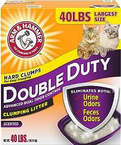 Arm & Hammer Double Duty Clumping Cat Litter, 40lb