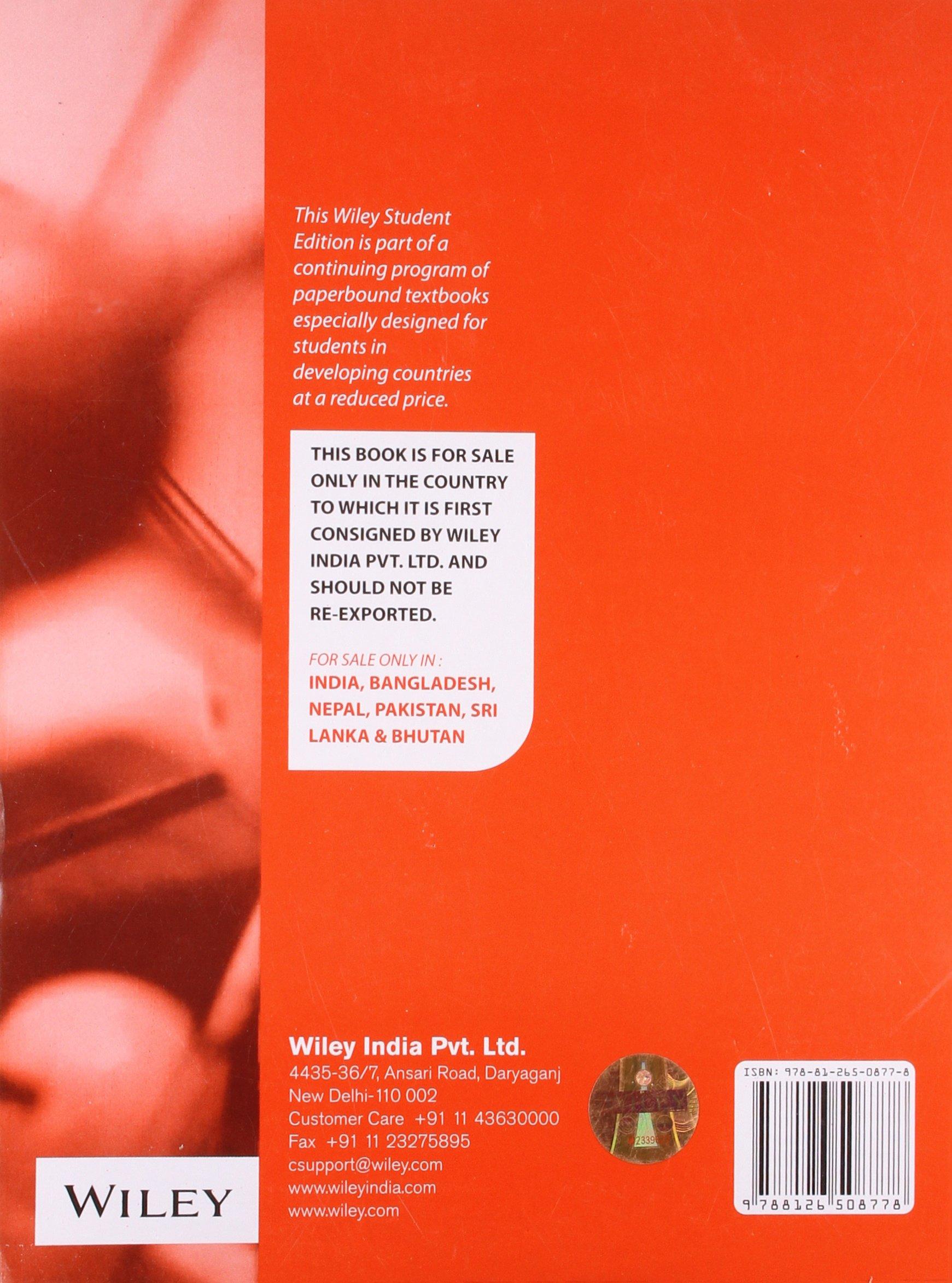 Physical Chemistry 4th Economy Edition: Alberty & Bawendi Silbey:  9788126508778: Amazon.com: Books