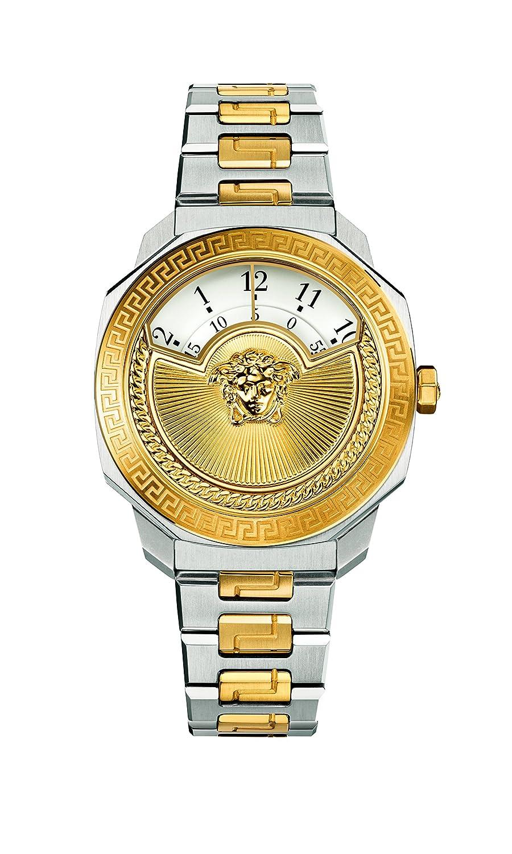 Versaceレディース' Dylosアイコン' Swiss QuartzステンレススチールCasual Watch, Color : Two Tone (Model : vqu040015 ) B018ABWH9M
