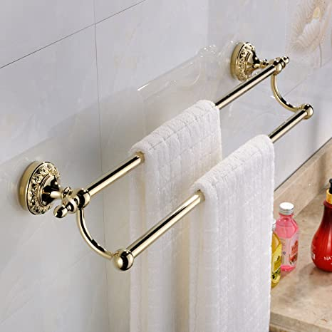 a9b7e45326 Weare Home Accessori da bagno moderna Ti-PVD finitura in ottone anticato  materiale asciugamano doppia