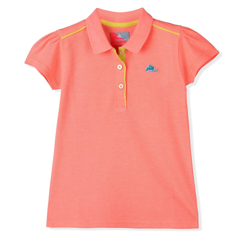 4fa9c03b Cherry Crumble California Girls Casual Polo T-Shirt(_51171230000012_Peach_11-12  Years_): Amazon.in: Clothing & Accessories