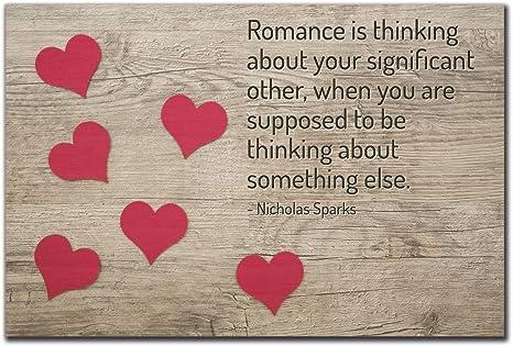 Amazon Com Mundus Souvenirs Romance Is Thinking About Your Quote