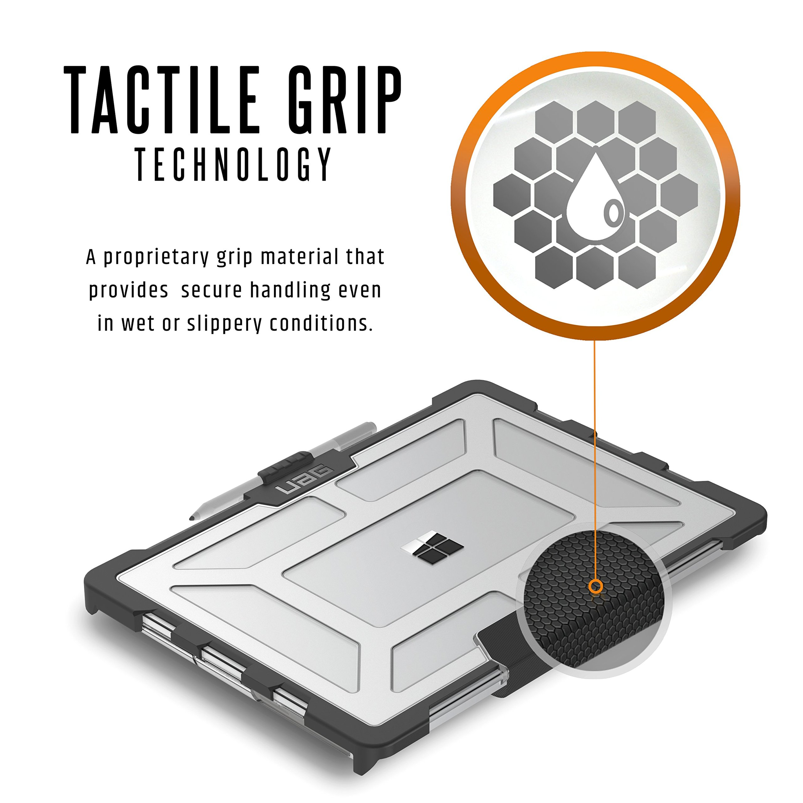 UAG Microsoft Surface Laptop 2/Surface Laptop Feather-Light Rugged [Ice] Military Drop Tested Laptop Case by URBAN ARMOR GEAR (Image #5)