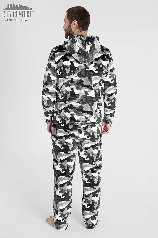Dos Pantalones Cortos De Algod/ón con Cintura El/ástica Ropa De Dormir O De Sal/ón CityComfort Conjunto De Pijamas Hombres Paquete Doble Suaves Y C/ómodos Pijamas para Hombres