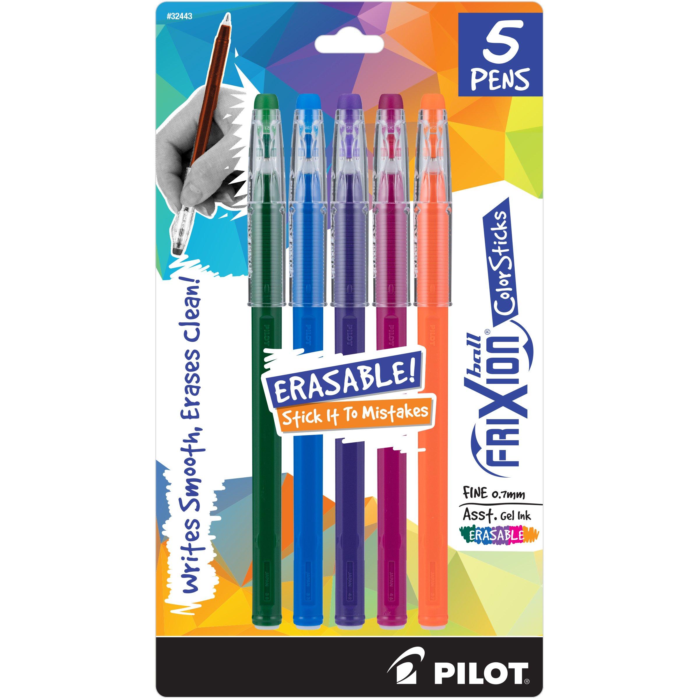 PILOT FriXion Color Sticks Bolígrafos de gel borrables Surti