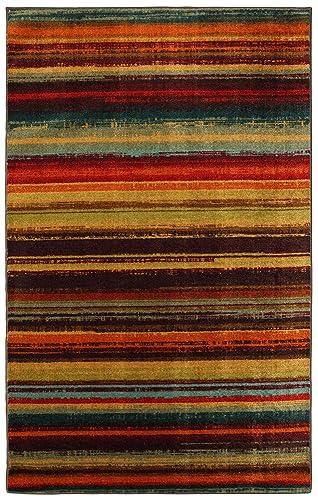 Mohawk Home New Wave Boho Stripe Printed Area Rug, 5 x8 , Multicolor