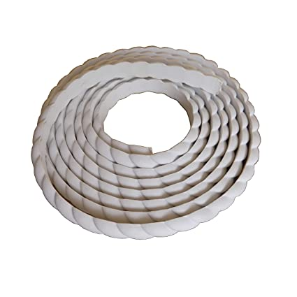 Home Wall Door Flexible Molding Trim Cabinet Edge Rope Mouldings 0 6inch  (1 5cm) W x 115inch (L) x Thickness 0 27 inch