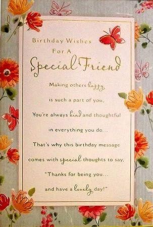 Large sized ladies blue gold birthday wishes for a special friend large sized ladies blue gold quotbirthday wishes for a special friendquot birthday m4hsunfo