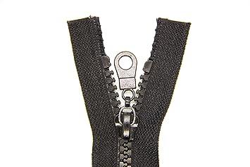 NTS Nähtechnik 1 Reißverschluss aus Kunststoff, Krampe, teilbar (Schwarz, 80 cm)