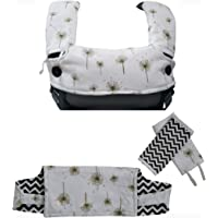 Baby Carrier Cover Organic Cotton Drool Teething Pads Fit Ergobaby All Carriers