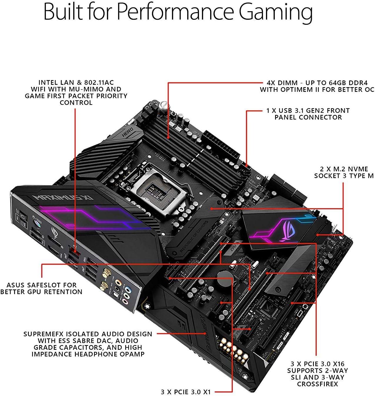 ASUS ROG Maximus XI Hero (Wi-Fi) Z390 Gaming Motherboard