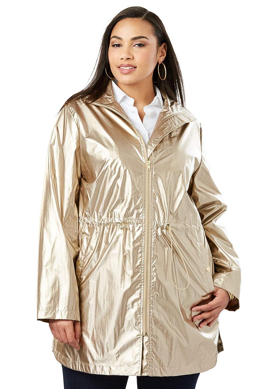 Jessica London Womens Plus Size Anorak Raincoat