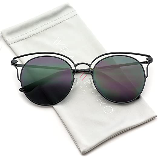 3e5e34d46d1 Image Unavailable. Image not available for. Color  WearMe Pro - Fashion  Designer Frame Round Cat Eye Sunglasses for Women