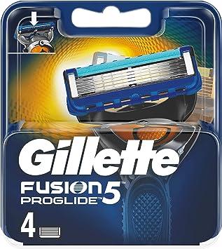 Gillette Fusion 5 ProGlide – Cuchillas de afeitar para hombres, 4 unidades): Amazon.es: Salud y cuidado personal