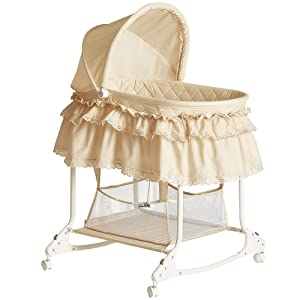Dream On Me Willow Bassinet, Beige