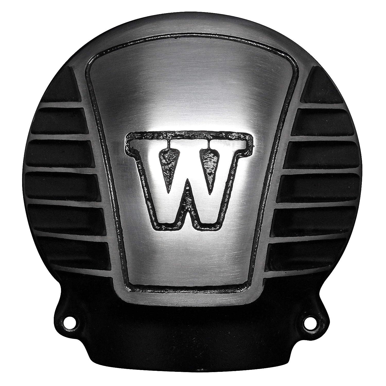 FORK ベベルギアカバー W650 W800 W400 W with Fins Black 7101-01B   B07GVKW1JG
