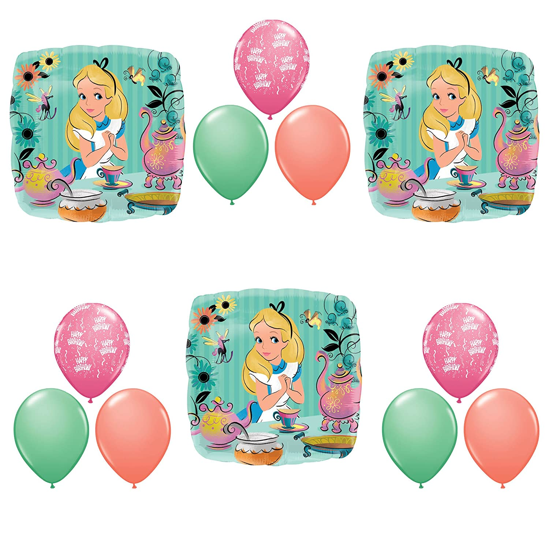 ALICE IN WONDERLAND Tea Birthday Party Balloons Decoration Supplies Madhatter Anagram