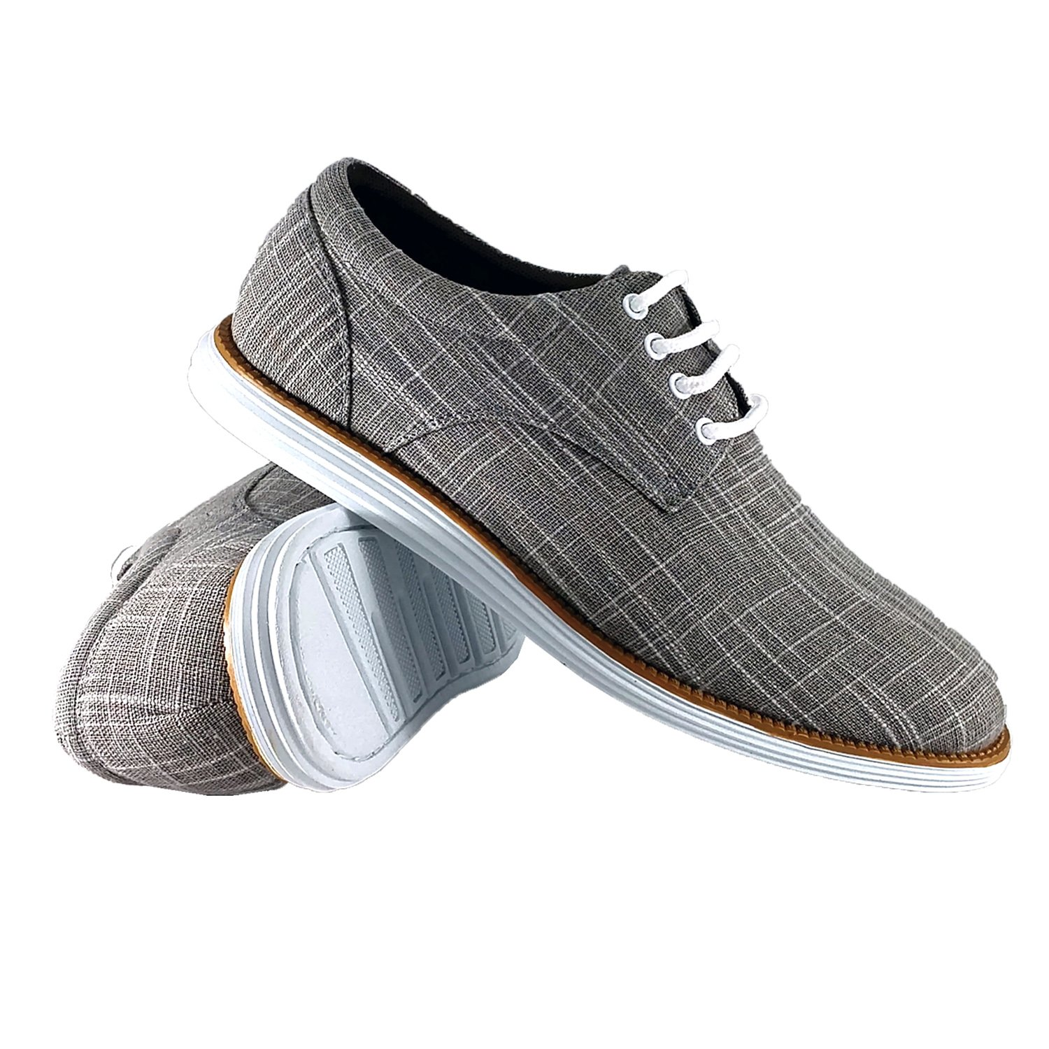 reverse Men's Oxford Dress Comfort Everyday Walking Lace-up Shoe, Gray 8.5 D(M) US