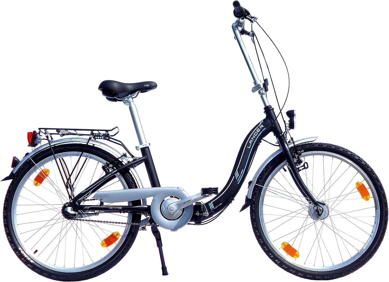 LANDER bicicleta plegable 24 pulgadas (=61) Marco de Aluminio ...