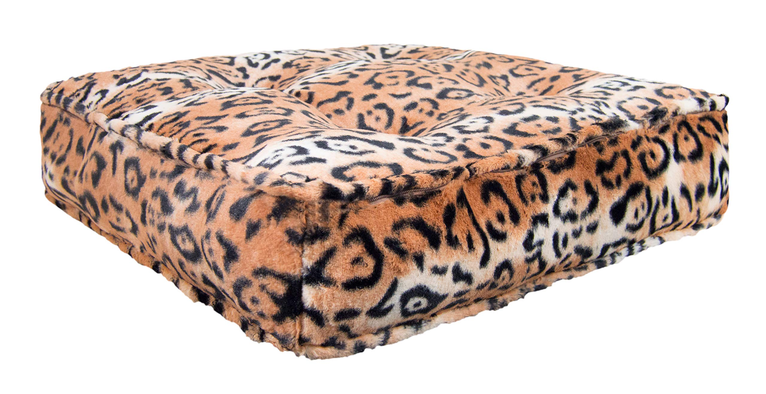 Bessie and Barnie Chepard Extra Plush Faux Fur Luxury Sicilian Rectangle Pet/Dog Bed (Multiple Sizes)