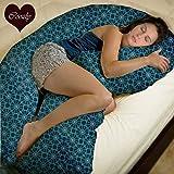 Coozly Horseshoe U Shape Body Pillow (Blue)