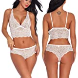 Women's Sexy Lingerie Lace Bralette Bra and Panty