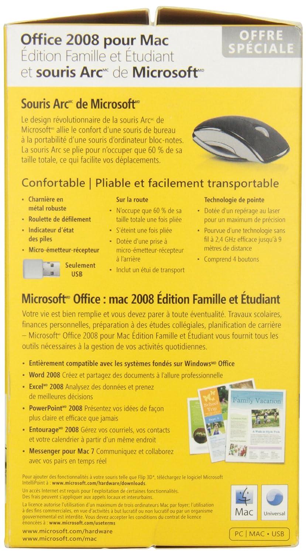Office Mac Home Student 2008 W Arc Mouse White Bundle Votree Software