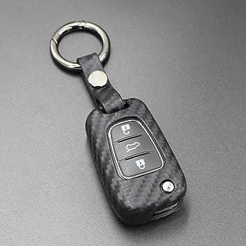 M.JVisun Carcasa de silicona para llave de Hyundai plegable ...