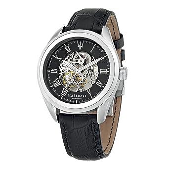 Maserati Reloj Analógico Automático para Hombre con Correa de Cuero - R8871612001: R8871612001: Amazon.es: Relojes