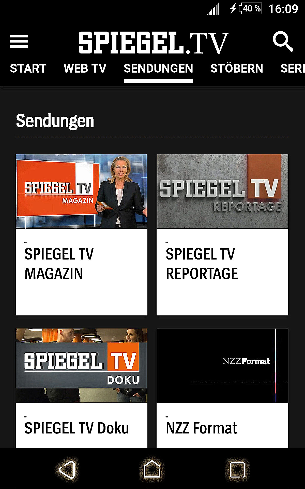 Spiegel tv appstore for android for Spiegel tv live stream